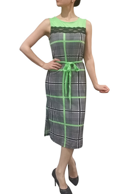 Belted, Bodycon Maxi Dress in Classic Green Plaid!