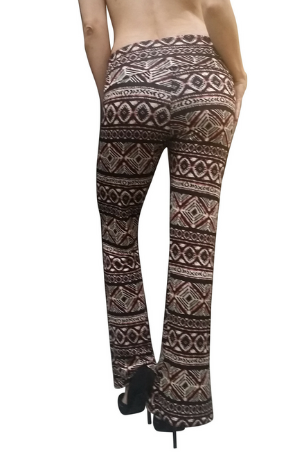 $22.90 Tags From Wet Seal! Black Aztec Pattern Palazzo Pants.