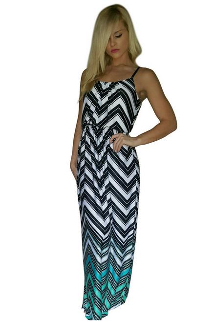 Chevron Striped Maxi Dress from BAILEY BLUE! Original Price: $38.99