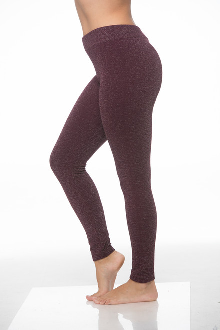 Glittering Magenta / Purple Lurex Leggings!