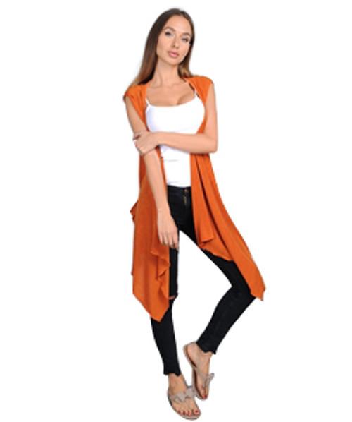 Sweater-Dress or Long, Open Cardigan?  Burnt Orange.