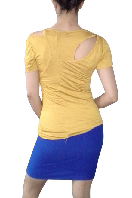 Boutique Brand Top with Cutout Shoulders! Golden Mustard Yellow.