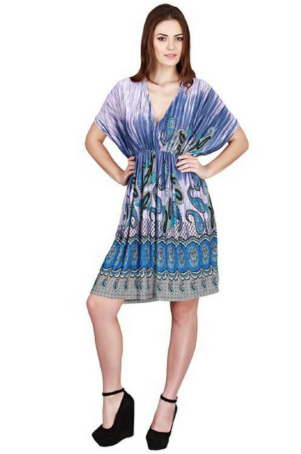 Plus Size Kimono Dress. Purple Sublimation. One Size Fits Most Plus Sizes.