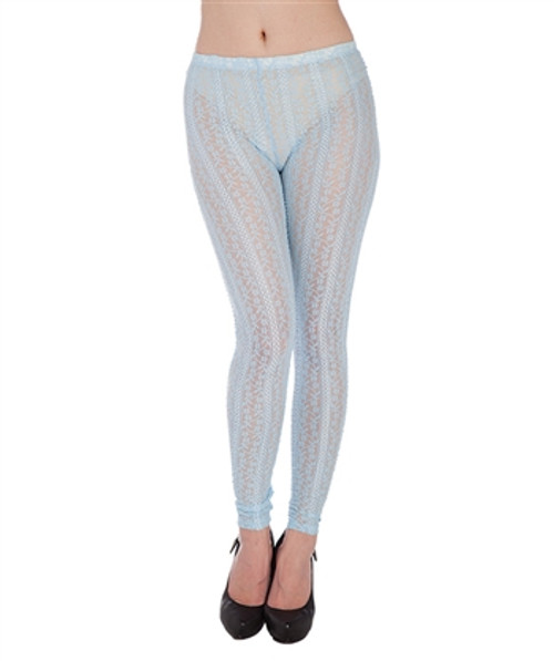 Sheer Baby Blue Lace Leggings from KTOO!