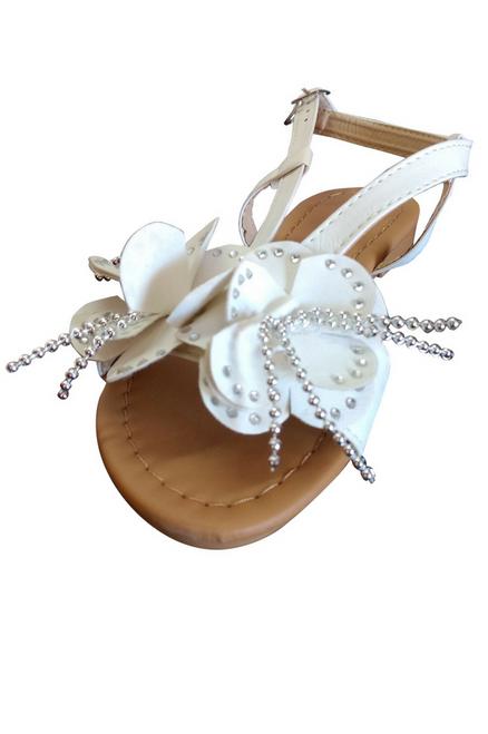 White Flower Sandals!