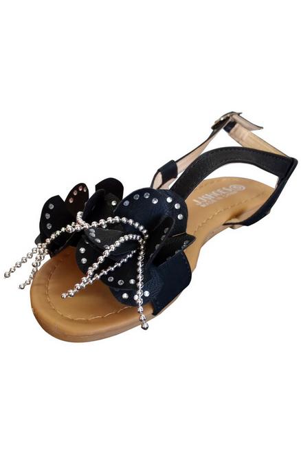 Black Flower Sandals!