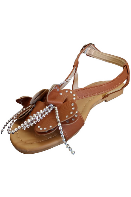 Camel Brown Flower Sandals!