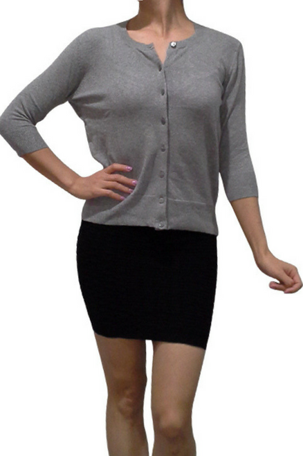 Classic Grey Cardigan from ATMOSPHERE!