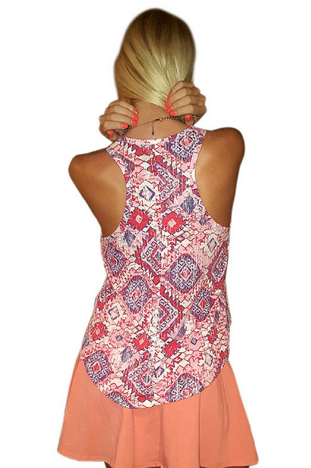 Pink Boutique Tribal Pattern Tank Top!