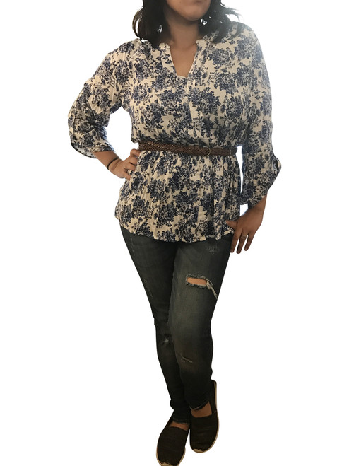 Plus Size Belted Paisley Tunic from America's Hottest Brand! Size XL Only.