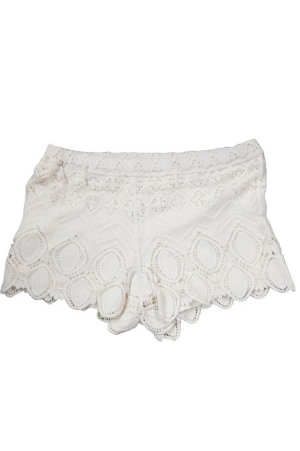 Major Brand! 100% Cotton White Crochet Shorts!