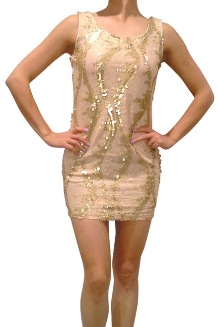 Gold Sequin Bodycon Dress from Nella Fantasia!