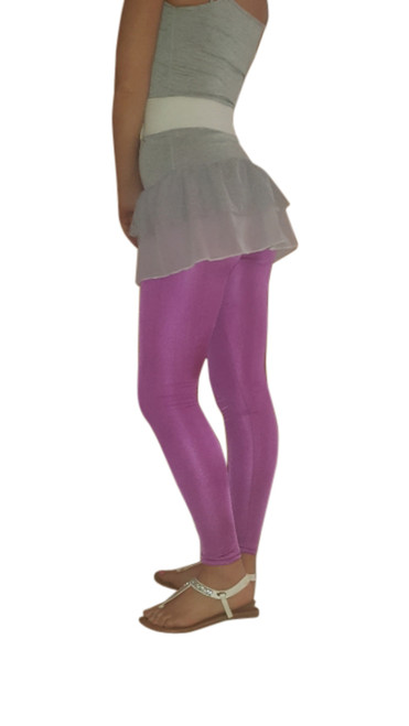 Classic Purple Leggings with a Hint of Shimmer and Shine.
