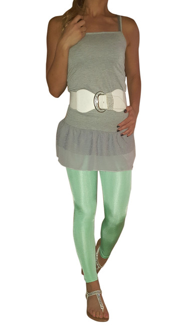 Classic Mint Leggings with a Hint of Shimmer and Shine.