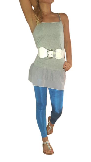 Classic Blue Leggings with a Hint of Shimmer and Shine.