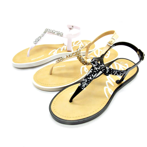 Sandal with 'PopRock' Stones! Nude.