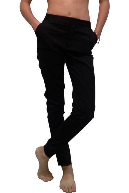 98% Cotton Solid Black Pants!