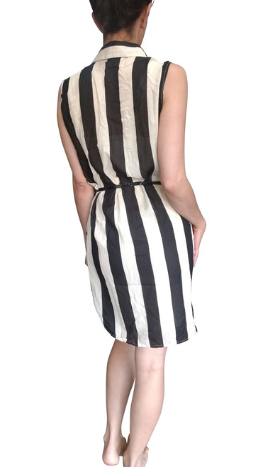Plus Size Black & White Striped Dress from Marianne!