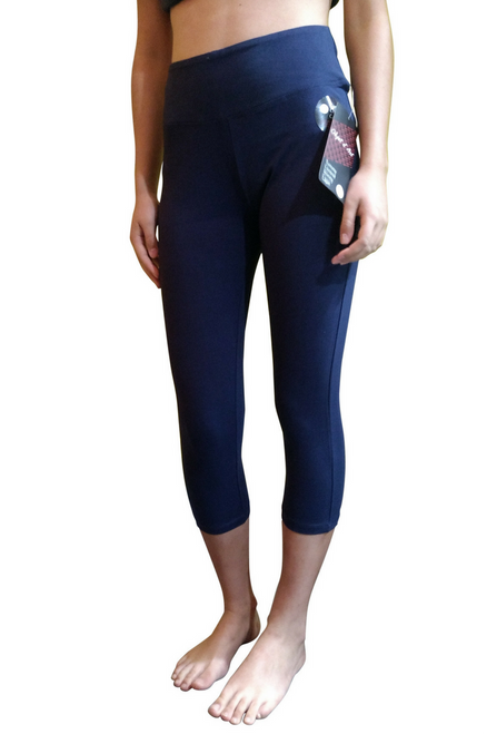 Tummy Control Skinny Yoga Capris from Objet d'Art! Navy Blue.