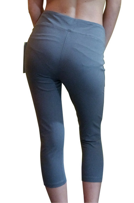 Tummy Control Skinny Yoga Capris from Objet d'Art! Grey.