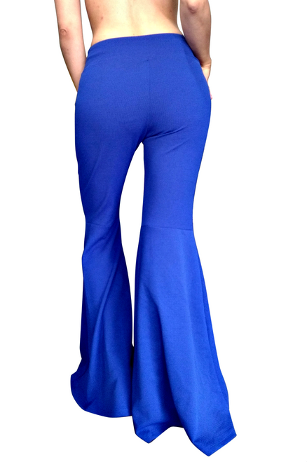 Cobalt Blue Retro Bell Bottom Palazzo Pants!