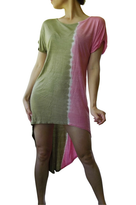Green Tie Dye T-Shirt Dress from FREELOADER!