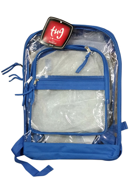 Clear Transparent Backpack with Original Tags for $9.99 from TUG!