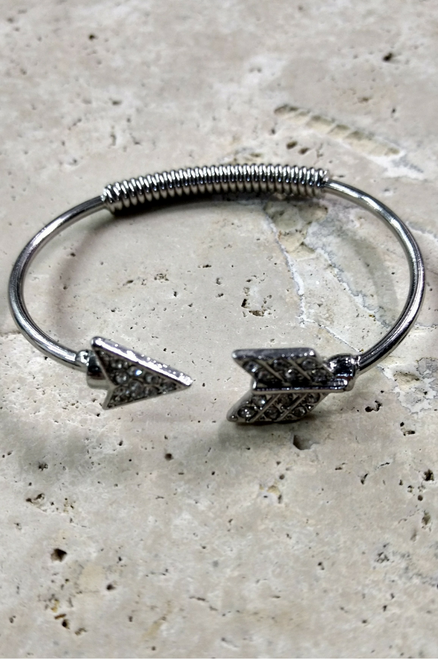 Boho Chic Adjustable Size Cuff Bracelet with Arrow!