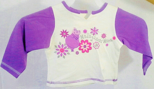 KIDS / INFANTS. $16 Tags! Madagascar Mama! 12 Months. White/Purple