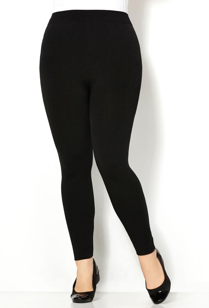 PLUS SIZE Solid Black Body-Shaping Leggings!