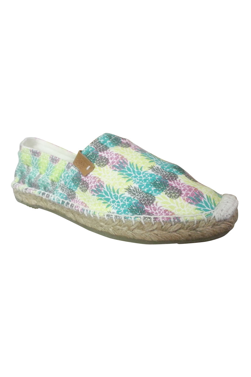 **HOT SALE** Pineapple Print Espadrilles from Coolway Shoes! Flats in Tropical Yellow.