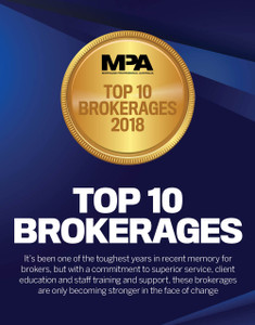 2018 Top 10 Brokerages (available for immediate download)