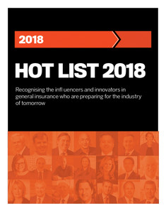 Insurance Business Hot List 2018 (available for immediate download)