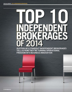 2014 Top 10 Independent Brokerages (available for immediate download)