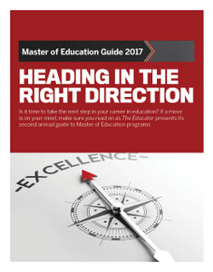 MASTER OF EDUCATION GUIDE 2017 (available for immediate download)