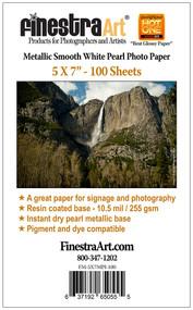 5x7 Metallic Pearl Photo Paper  100 sheets