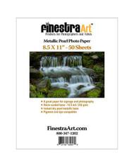 8.5x11 Metallic Pearl Photo Paper  50 sheets