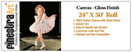 24x50 ft Roll Inkjet Canvas Gloss Finish