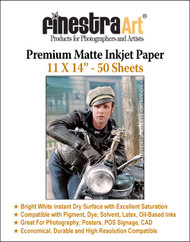 "11"" X 14"" Premium Arctic Matte Inkjet Photo Paper - 50 Sheets"