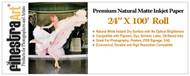 "24"" X 100' Roll Premium Natural Matte 230gsm Inkjet Paper"