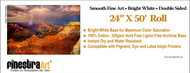 "24"" X 50' Smooth Fine Art Archive Bright White Inkjet Paper - Roll"