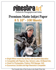 "8 x 10"" 100 Sheets Premium Matte Inkjet Photo Paper 230gsm"