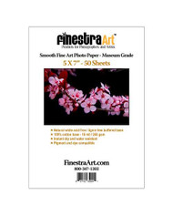 5x7 Smooth Fine Art Museum Grade Inkjet Paper  50 sheets