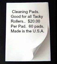 Cleaning Pads  *Bulk Order*  ( 60 Pads)  for all Tacky Rollers  50 sheets per pad $ 20.00 EA.