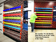 "MONDO  JUMBO Wall RAXX Kit  10 rolls  up to 60"" wide.  MEDIA Max roll size 6.5"""