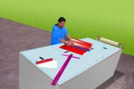 "Work Table Cutting Mat 60""x96""  ( 5'x8')  No Grid Line"