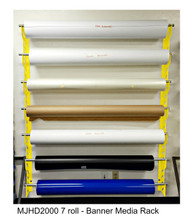 "MONDO  Heavy Duty Wall RAXX Kit  7 rolls  up to 60"" wide. Large Format Media Max roll size 10"""