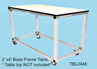 Tek:Shop:Table  Base Frame 2'x4' All parts and tools included ( table top is NOT Included)