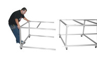Tek:Shop: Table Extender 4'x4' plus  2 wheels and 1 cross bar.