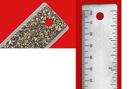 "Flat Ruler 18"" / Non -Slip Cork back   3 Pack"